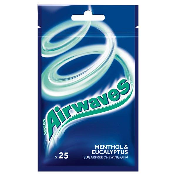 Airwaves Menthol & Eucalyptus Guma do żucia bez cukru 35 g (25 drażetek)