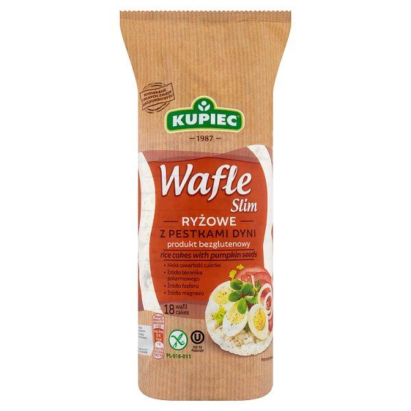 Kupiec Slim Wafle ryżowe z pestkami dyni 90 g (18 sztuk)