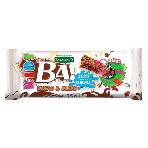 Bakalland Ba! Kids kakao & mleko Baton zbożowy 25 g