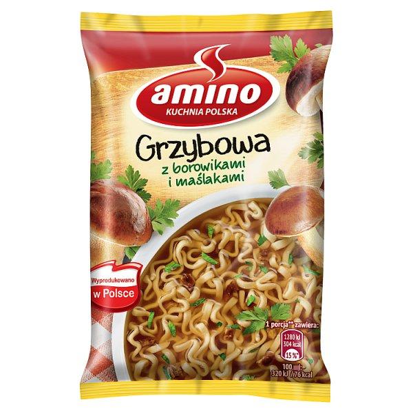 Amino Zupa błyskawiczna grzybowa z borowikami i maślakami 57 g