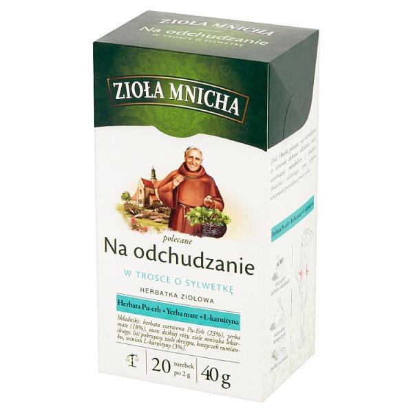 Big-Active Zioła Mnicha Na odchudzanie Herbatka ziołowa 40 g (20 x 2 g)