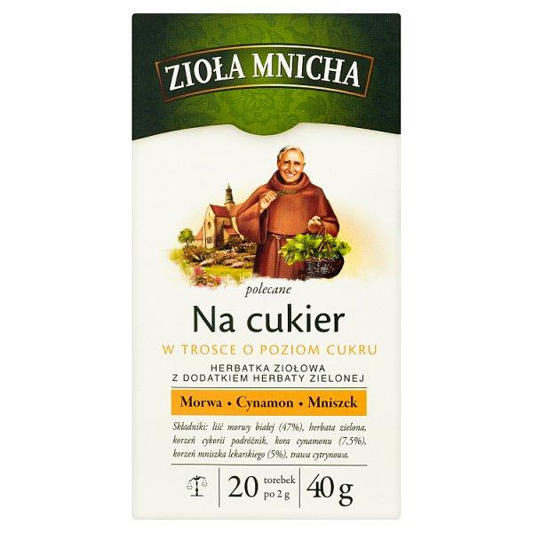 Big-Active Zioła Mnicha Na cukier Herbatka ziołowa z dodatkiem herbaty zielonej 40 g (20 torebek)