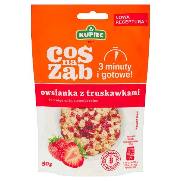 Kupiec Coś na ząb Owsianka z truskawkami 50 g