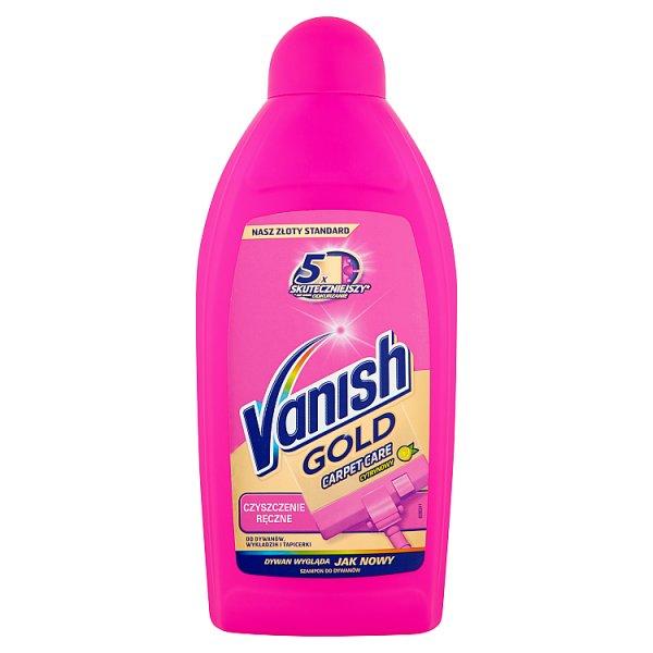 Vanish Gold Carpet Care Czyszczenie ręczne cytrynowy Szampon do dywanów 500 ml