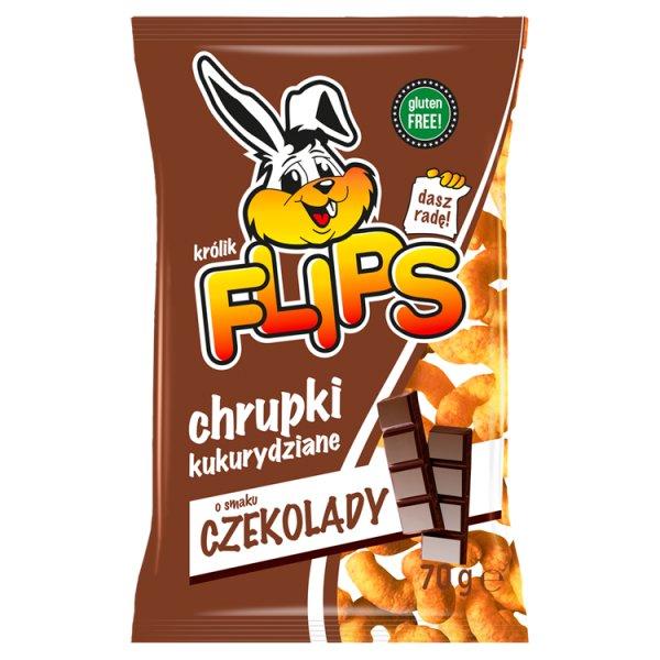 Flips Chrupki kukurydziane o smaku czekolady 70 g