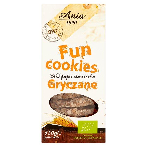 Ania Fun Cookies Bio fajne ciasteczka gryczane 120 g