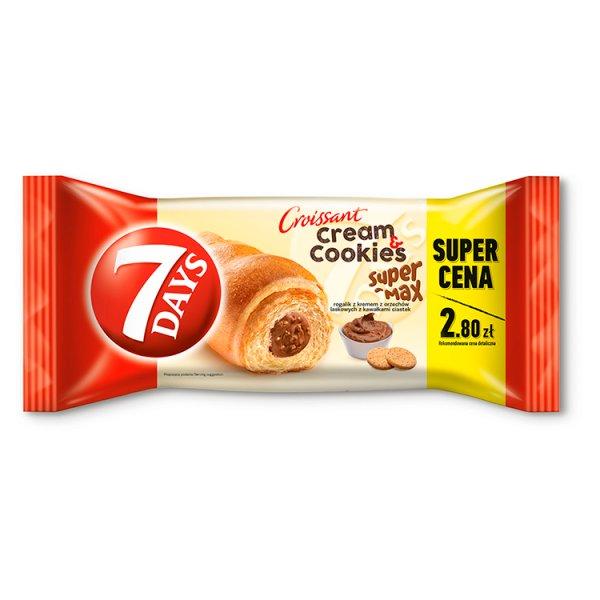 7 Days Cream & Cookies Max Rogalik z kremem z orzechów laskowych z kawałkami ciastek 110 g