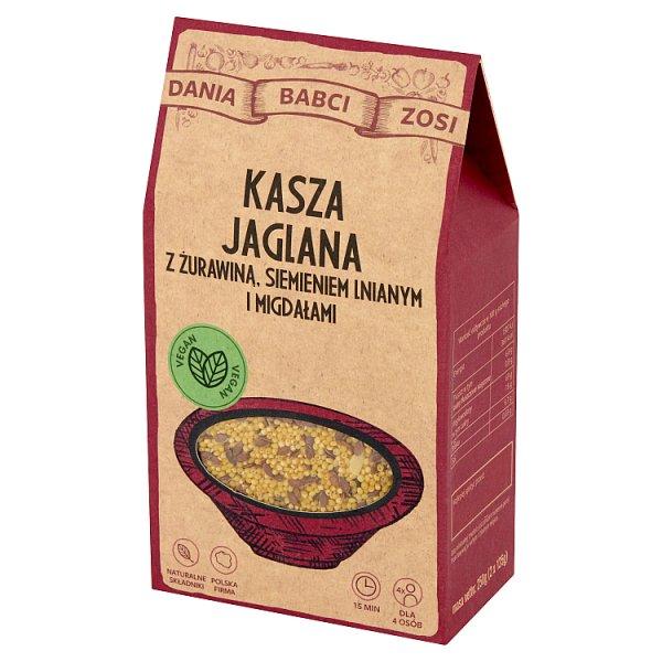 Dania Babci Zosi Kasza jaglana z żurawiną siemieniem lnianym i migdałami 250 g (2 x 125 g)