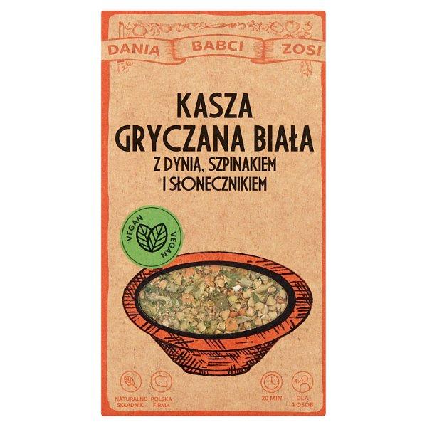 Dania Babci Zosi Kasza gryczana z dynią szpinakiem i słonecznikiem 250 g (2 x 125 g)