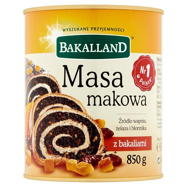 Bakalland Masa makowa z bakaliami 850 g
