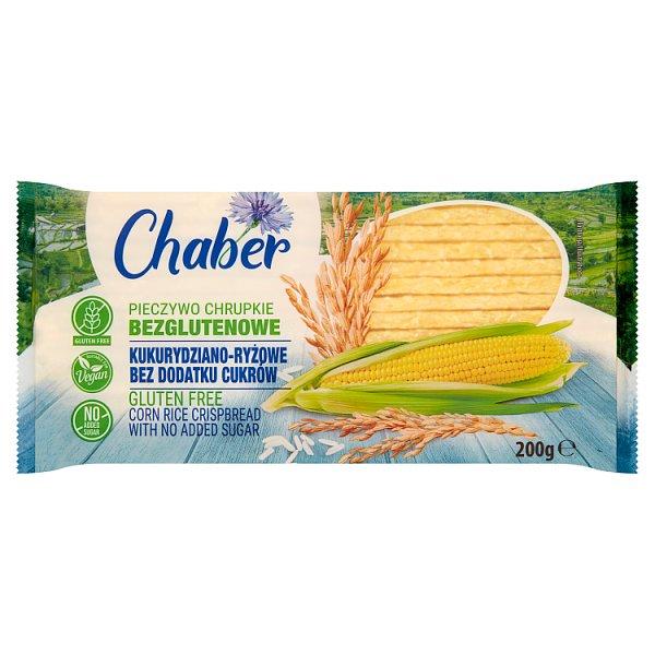Chaber Pieczywo chrupkie bezglutenowe kukurydziano-ryżowe bez dodatku cukrów 200 g