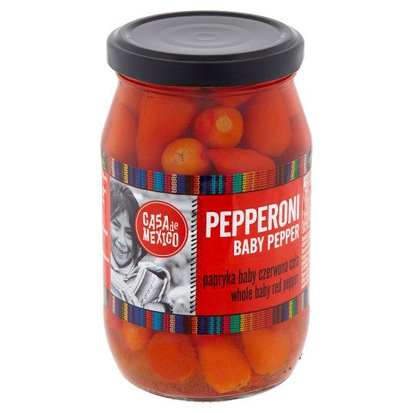 Casa de Mexico Papryka Pepperoni baby czerwona cała 325 g