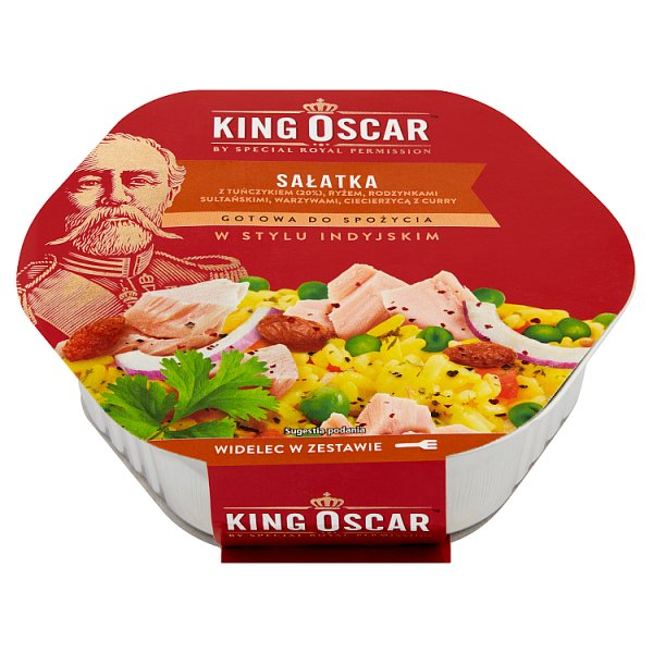 King Oscar Sałatka gotowa do spożycia w stylu indyjskim 220 g