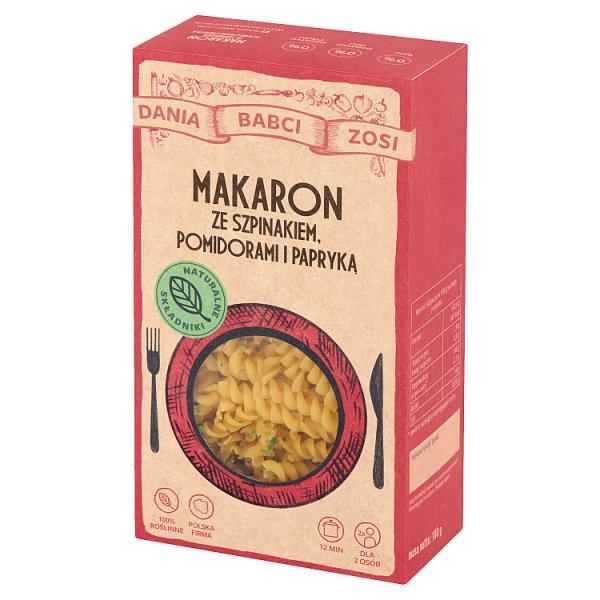 Dania Babci Zosi Makaron ze szpinakiem pomidorami i papryką 180 g