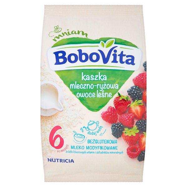 BoboVita Kaszka mleczno-ryżowa owoce leśne po 6 miesiącu 230 g
