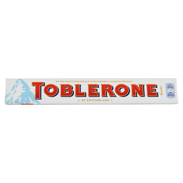 Toblerone Szwajcarska czekolada biała z nugatem miodowo-migdałowym 100 g