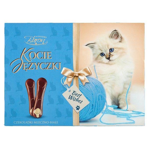 Excellent Baron Kocie Języczki Czekoladki mleczno-białe 100 g