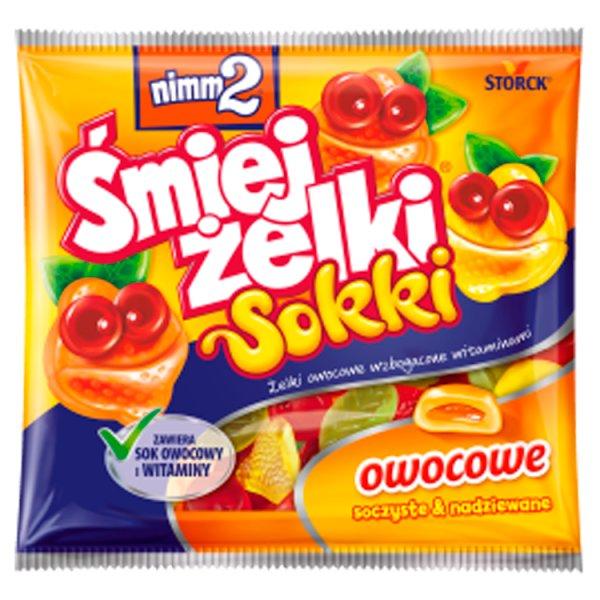 nimm2 Śmiejżelki Sokki Żelki owocowe wzbogacone witaminami 90 g