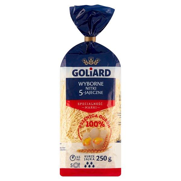 Goliard Makaron 5 jajeczny nitki wyborne 250 g