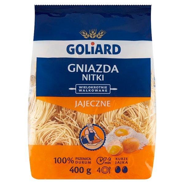 Goliard Makaron 2-jajeczny gniazda nitki 400 g