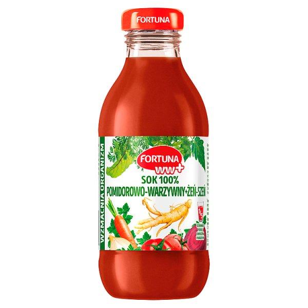 Fortuna WW+ Sok 100% pomidorowo-warzywny + żeń-szeń 300 ml