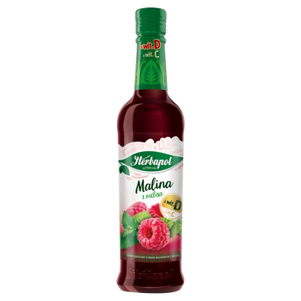 Herbapol Owocowa Spiżarnia Syrop owocowy malina z melisą 420 ml