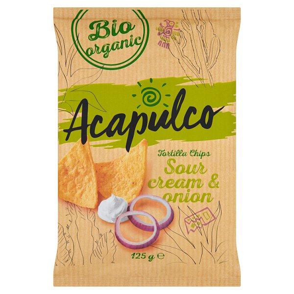 Acapulco Kukurydziane przekąski o smaku śmietankowo-cebulowym 125 g