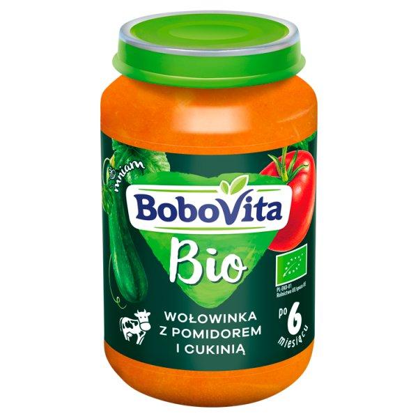 BoboVita Bio Wołowinka z pomidorem i cukinią po 6 miesiącu 190 g