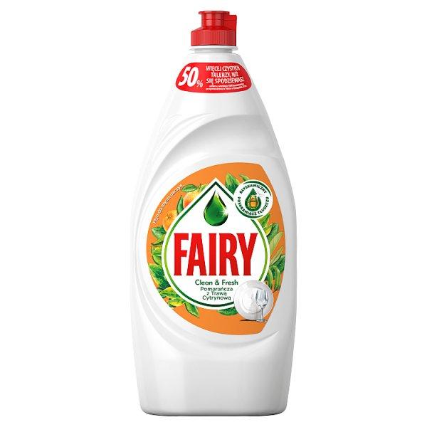 Fairy Clean & Fresh Pomarańcza z Trawą Cytrynową Płyn do mycia naczyń 900ml
