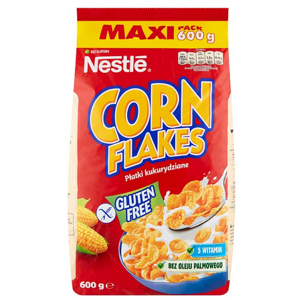 Nestlé Corn Flakes Płatki śniadaniowe 600 g