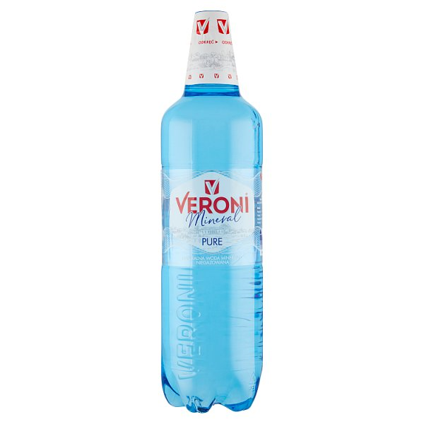 Veroni Mineral Pure Naturalna woda mineralna niegazowana 1,5 l