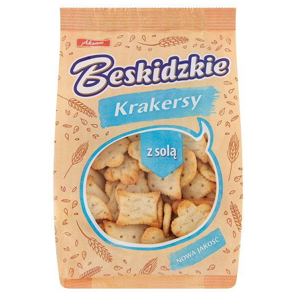 Aksam Beskidzkie Krakersy z solą 90 g