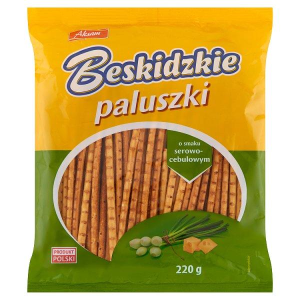 Aksam Beskidzkie Paluszki o smaku serowo-cebulowym 220 g