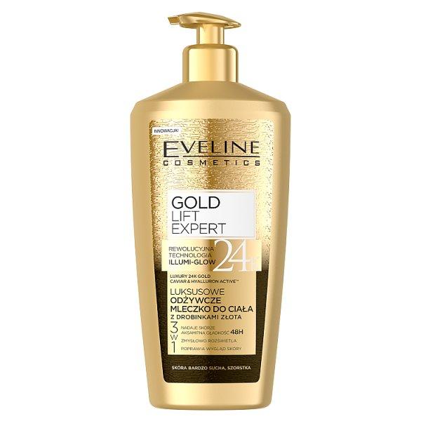 Gold Lift Expert 24k Gold Luksusowe odżywcze mleczko do ciała z drobinkami złota