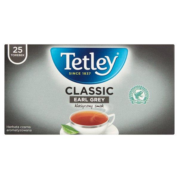 Tetley Classic Earl Grey Herbata czarna aromatyzowana 37,5 g (25 x 1,5 g)