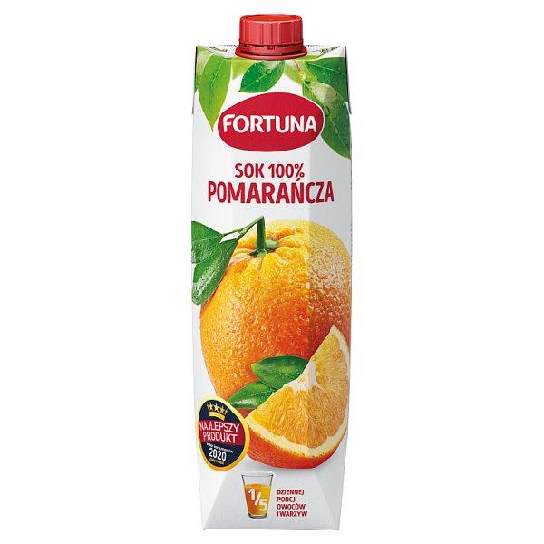 Fortuna Sok 100% pomarańcza 1 l