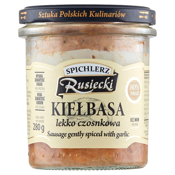 Spichlerz Rusiecki Kiełbasa lekko czosnkowa 280 g