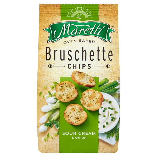 Maretti Pieczone krążki chlebowe o smaku śmietankowo-cebulowym 70 g