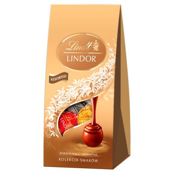 Lindt Lindor Praliny z czekolady mlecznej białej i gorzkiej 100 g