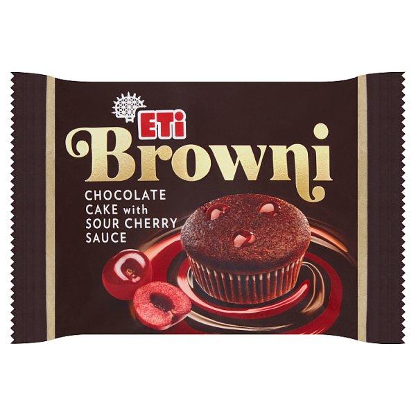 Eti Browni Babeczka z czekoladą i nadzieniem o smaku wiśniowym 45 g
