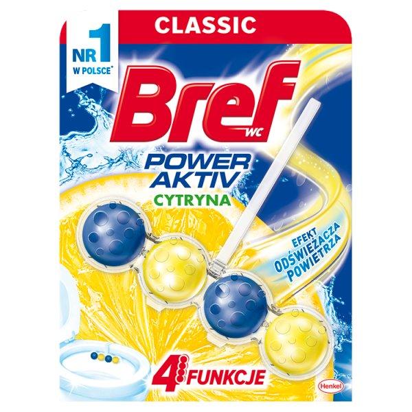 Bref WC Power Aktiv Zawieszka myjąco-zapachowa do muszli WC soczysta cytryna 50 g
