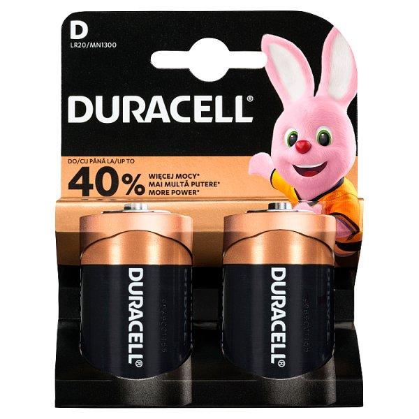 Duracell D 1,5 V Bateria alkaliczna 2 sztuki