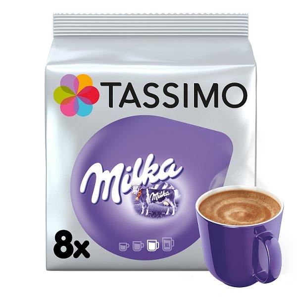 Tassimo Milka Słodzony napój kakaowy w proszku z odtłuszczonym mlekiem w proszku 240 g (8 kapsułek)