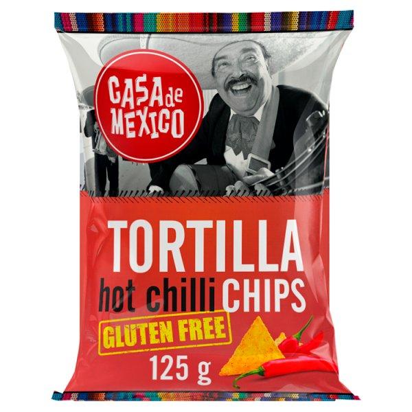 Casa de Mexico Tortilla hot chilli chips Bezglutenowe chipsy kukurydziane 125 g