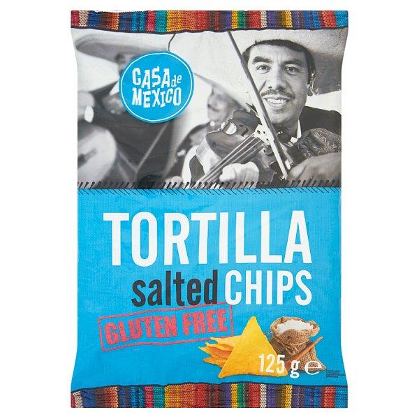Casa de Mexico Tortilla salted chips Bezglutenowe chipsy kukurydziane 125 g