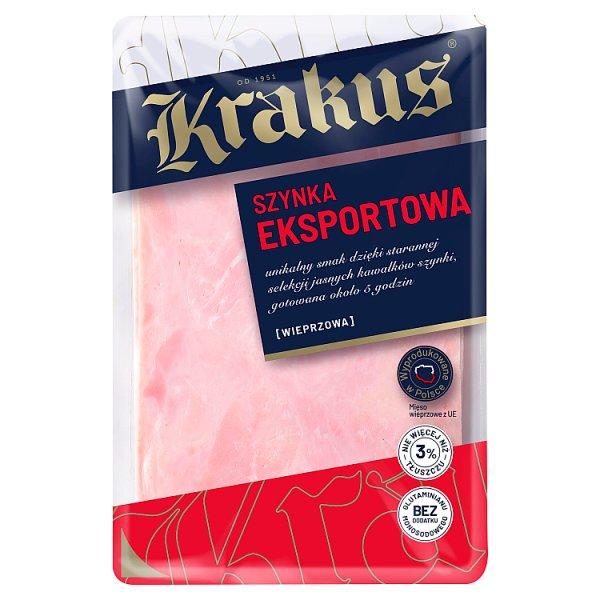 Krakus Szynka eksportowa 120 g (6 plastrów)