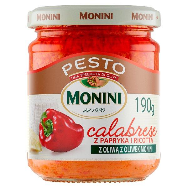 Monini Sos pesto Calabrese z papryką i ricottą 190 g