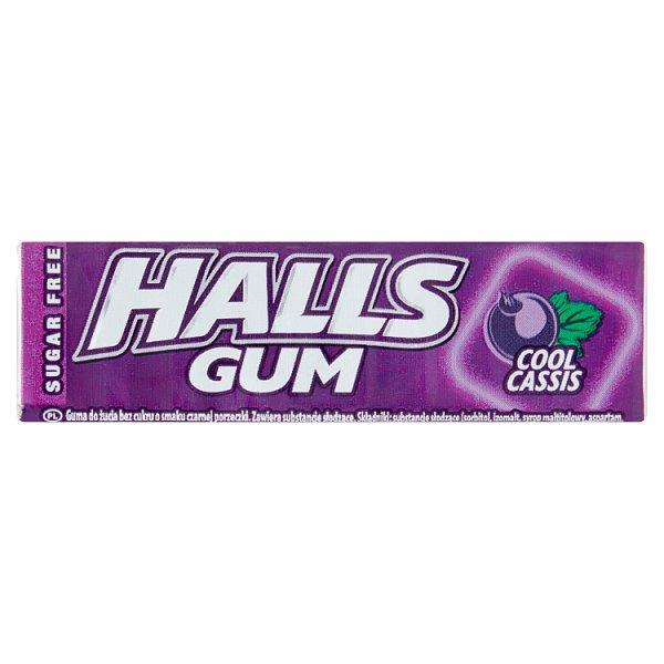 Halls Gum Guma do żucia bez cukru o smaku czarnej porzeczki 14 g