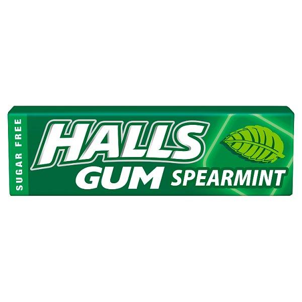 Halls Gum Guma do żucia bez cukru o smaku miętowym 14 g