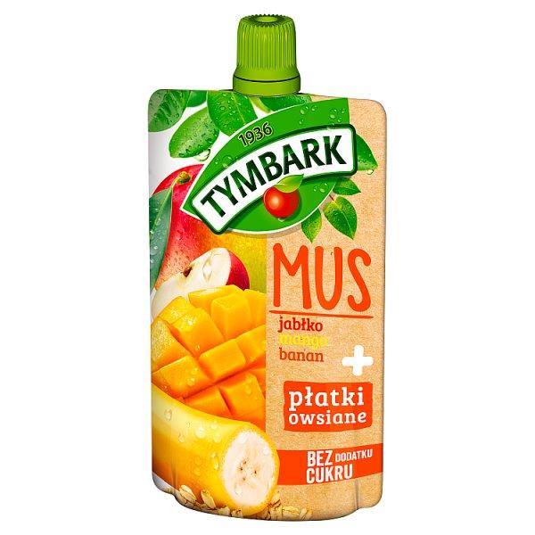 Tymbark Mus jabłko mango banan + płatki owsiane 100 g